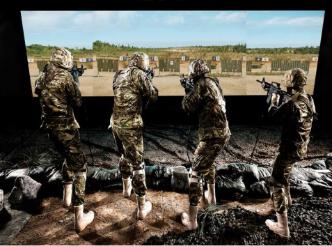 Light weapon shooting simulations with supporting technical services